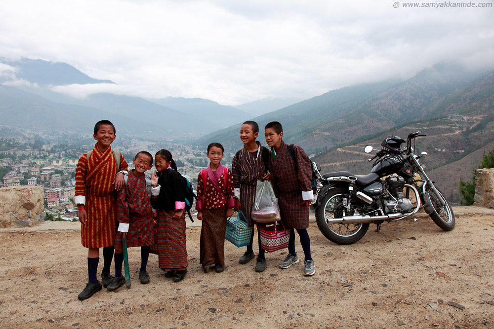 School kids in Bhutan